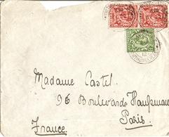 Grande Bretagne 1912  - Enveloppe De Whitley Bay/Northumberland à Paris/France  - Cachets De Réception Paris Distribut - Lettres & Documents