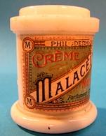 POT VIDE SANS BOUCHON CREME MALACEINE PARIS MONPELAS PARFUMEUR CHIMISTE - Bottles (empty)