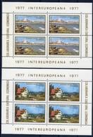 Intereuropa  - Romania 1977 -  2 Sheets MNH** - European Ideas