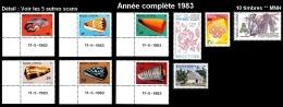 WALLIS ET FUTUNA Année Complète 1983 - Yv. 302 à 311 ** MNH    LUXE  - 10 Timbres  ..Réf.W&F22005 - Wallis And Futuna