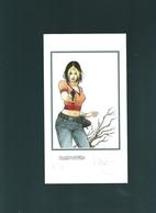 Lithographie De L Heroine De B.D.  RASPOUTINE SIGNEE Et NUMEROTEE (76 Sur 150) - Lithographies
