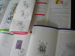 BELG.1988 Kompleet Jaar ,zegels Met Eerstedag Stempel Op NL Postfolders ,16 STUKS - FDC