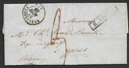 1849 LAC, Hazebrouck A Ypern, Belgique - Rayon Frontiere - Marcophilie (Lettres)