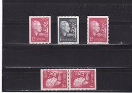 SUEDE 1959 HEIDENSTUM Yvert 440-442 + 440b NEUF**MNH - Suède