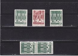 SUEDE 1959 FORÊTS Yvert 442-443 + 442a + 442b NEUF**MNH - Suède