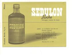 7940 CARTA ASSORBENTE PUBBLICITARIA ROCHE SEDULON Farmaco TOSSE - Advertising