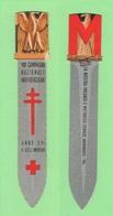 Ventennio MUSSOLINI Segnalibro Pugnale GRANDE M - VIII Campagna Antitubercolare - Bookmarks