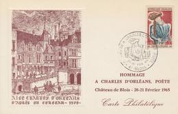 Carte  Maximum  1er  Jour   FRANCE   CHARLES  D' ORLEANS    BLOIS   1965 - Cartes-Maximum
