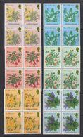 Falkland Islands 1995 Traditional Flowering Shrubs 6v Bl Of 4 ** Mnh (39494) - Falklandeilanden