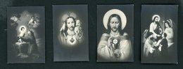 40# LOT 4 MINI IMAGES RELIGIEUSES DE 3 X 4,5 CM - Images Religieuses