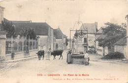 10-AUZON- ENVIRONS DE PINEY, L'EGLISE XIIe S REMANIEE AU XVIeS LA PLACE COMMUNALE - France