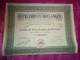 DISTILLERIES PAUL BOULANGER (pantin) - Shareholdings