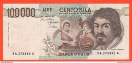 100.000 Lire 1983 Caravaggio I° Tipo Repubblica Italiana 100000 - [ 2] 1946-… : Républic