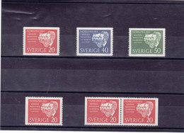 SUEDE 1961 PRIX NOBEL Yvert 488-490 + 488a-488b NEUF** MNH - Suède