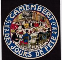 Etiquette De Fromage - 5 Etiquettes De Camenbert - Camembert Des Jours De Fête Sérans (Orne) - (étiquettes Neuves) - Fromage