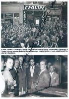 BOXE : PHOTO (1948), CHAMPIONNAT DU MONDE DES MOYENS, MARCEL CERDAN AU JOURNAL L'EQUIPE, JACQUES GODDET, MARCEL HANSENNE - Boxe