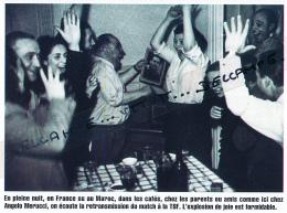 BOXE : PHOTO (1948), CHAMPIONNAT DU MONDE CERDAN - ZALE, LES SUPPORTERS A L'ECOUTE DU RESULTAT A LA TSF, RADIO, JOIE - Boxing