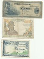 Indochine Lot De 10 Billets - Indochina