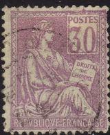 1900/1902  MOUCHON N° 115a (chiffres Déplacés)  OBLITERE  B   COTE 45 € - 1900-02 Mouchon