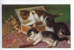CPA Chats Chaton Jeu Humour Boite à Cigares O.G.Z.L. 168/1047 - Cats