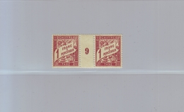 FRANCE - TAXE - YT N° 40 - La Paire Millésime 9 - 1 F. Lilas-brun S. Paille - NEUF* - 1859-1955 Mint/hinged