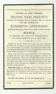 Oorlogsslachtoffers Berlijn 15/4/1945  * Van Meenen Julien (° Brugge 1921) Ludemann Elisabeth (°Sorau 1921) Maria (°1945 - Godsdienst & Esoterisme