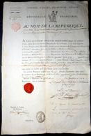 PASSEPORT REVOLUTIONNAIRE CACHET DE CIRE DELIVRE EN 1796  PAR LE COMMISSAIRE DES DEPARTEMENTS MERIDIONNAUX MARSEILLE - Documents