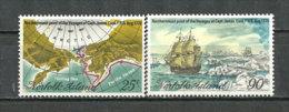 ILE NORFOLK.Voyage Polaire Dans L'Arctique Du Capitaine Cook En 1778.  Neufs **. Yv.# 214/5 - Antarctic Expeditions