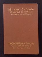 South Vietnam Viet Nam Passport Reisepass Passeport Passaporte 1971 / 05 Photo - Documentos Históricos