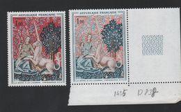Fausse Variété N° 1425 Couleur Rose Au Lieu De Rouge Gomme Sans Charnière - Curiosités: 1960-69 Neufs