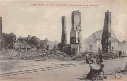 10-PINEY- LA PLACE DE LA HALLE APRES L'ENCENDIE DU 29 JUILLET 1921 - France