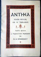 RUSSIE RUSSIA ANTHEHA POEME EN LANGUE RUSSE 1900 TRADUCTION FRANCAISE TRES BEL EXEMPLAIRE NON COUPE - Livres, BD, Revues