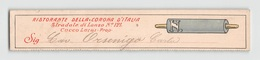 """0154  """"SEGNALIBRO - RISTORANTE DELLA CORONA D'ITALIA - PROP. CUCCO LUIGI""""  ORIGINALE - Bookmarks"""