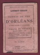 110718A - 1918 LIVRET CHAIX CHEMIN DE FER ORLEANS Horaire Lignes Carte Réseau Train Tramway - Europe