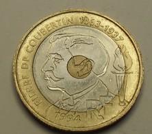 1994 - France - 20 FRANCS, Pierre De Coubertin, KM 1036, Gad 873 - Commémoratives