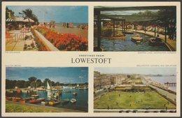Multiview, Greetings From Lowestoft, Suffolk, C.1960 - Jarrold Postcard - Lowestoft
