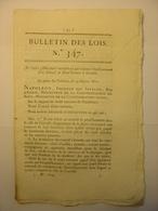 BULLETIN DES LOIS De 1811 - PRUD'HOMMES CREVELD CREIVELD HOLLANDE DOUANES CLAIRVAUX PRISON EAUX DE VIE EYMET COCHONS - Decrees & Laws