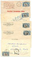 Trinidad & Tobago 1949-50 5 Covers Port-of-Spain, Palo Secco, San Fernando & Siparia - Trinidad & Tobago (...-1961)