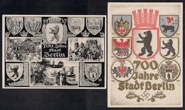 Deutsches Reich  3 Karten  - 750 Jahre Stadt Berlin - - Briefe U. Dokumente