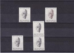 SUEDE 1965 PRINCE EUGEN Yvert 525-526 + 525a-525b NEUF** MNH - Suède