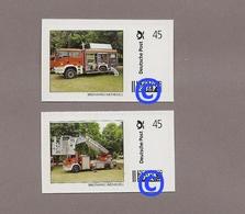 BRD - Marke Individuell - 2 Werte Feuerwehrauto, Fire Truck, Camión De Bomberos, Camion De Pompiers - Feuerwehr