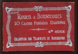 76 - COLLECTION DES TRAMWAYS DE BONSECOURS - CARNET DEPLIANT DE 10 CARTES - Bonsecours
