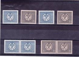 SUEDE 1968 BANQUE DE SUEDE Yvert 586-587 + 586a-587a + 586b-587b NEUF** MNH - Suède