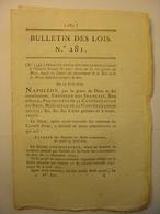 BULLETIN DES LOIS De 1810 - REUNION BELGIQUE A L' EMPIRE - GENDARMERIE NATIONALE - BREVET GALOCHE A BASCULE CHAUSSURE - Décrets & Lois
