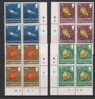 Falkland Islands Dependencies 1984 Crustacea 4v Bl Of 4(corners) ** Mnh (39495D) - Zuid-Georgia