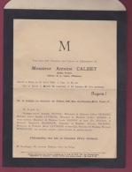 140718 - 1942 Faire Part De Décès  Du PEINTRE ARTISTE ANTOINE CALBET - Décès