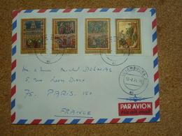 Enveloppe Affranchie Pour Paris Oblitération Luxembourg 1971 - Covers & Documents
