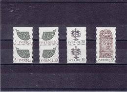 SUEDE 1970 OBJETS D'ART Yvert 646-649 NEUF** MNH - Suède