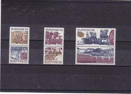 SUEDE 1970 INDUSTRIE ET COMMERCE Yvert 665-670 NEUF** MNH - Suède