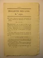 BULLETIN DES LOIS De 1810 - CREATION BOUCHES DE L'ESCAUT PAYS BAS HOLLANDE - HOSPITALIERES DOLE JURA - CONCESSIONS MINES - Décrets & Lois